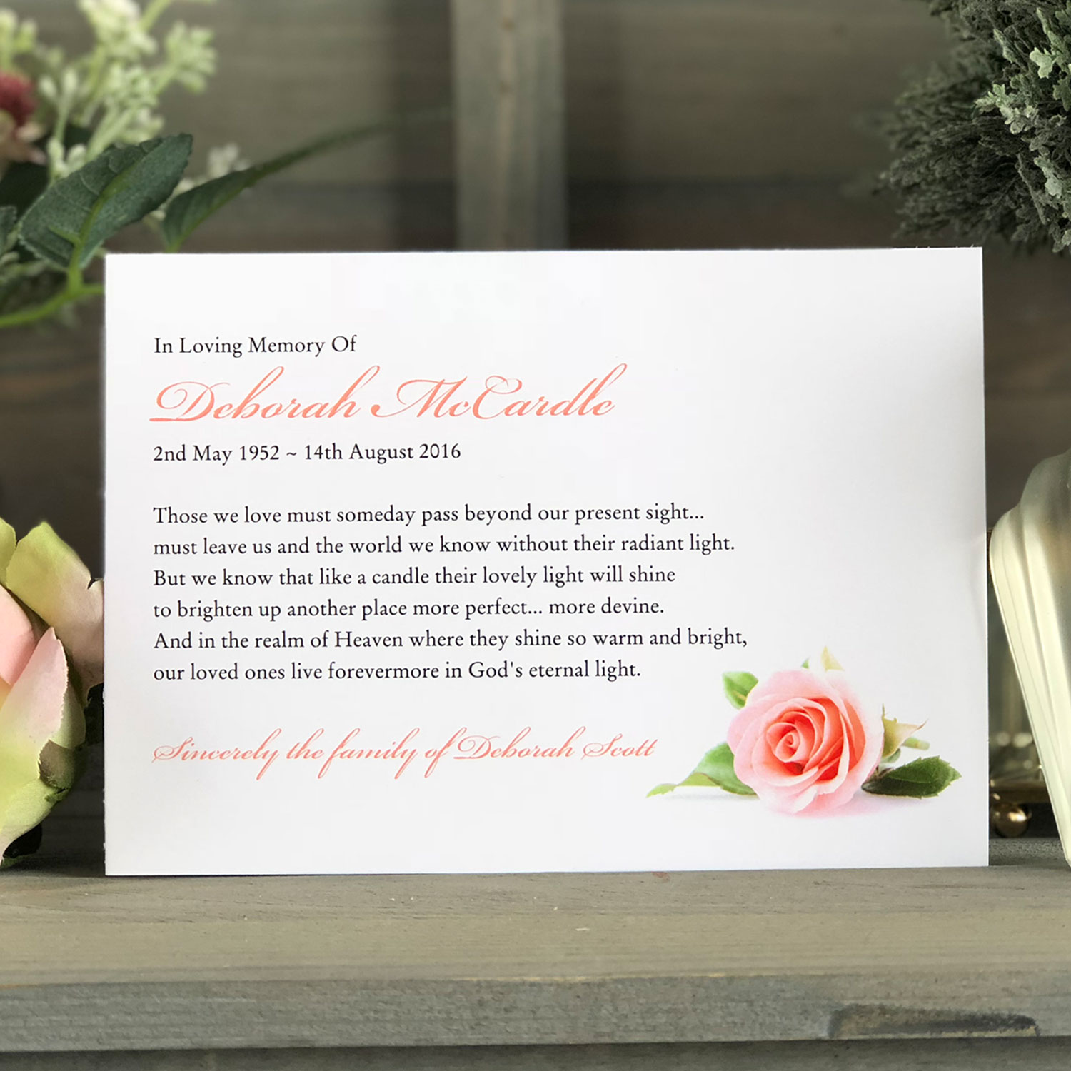 Memorial Thank You Card